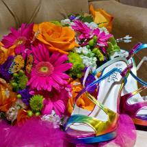 bridesShoesAndBoquet